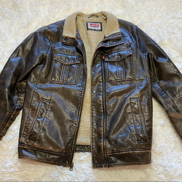 Levi's • Vintage Faux Leather Jacket